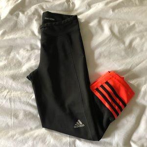 Cropped high waisted adidas leggings
